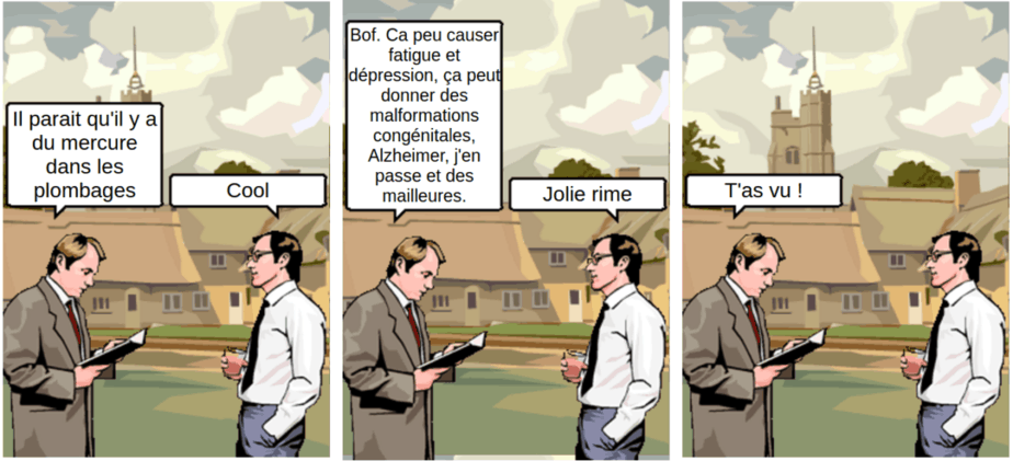 Plombages et mercure - comic