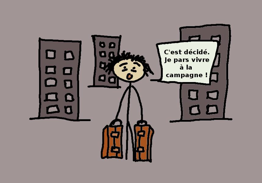 quitter la ville pour la campagne - comic