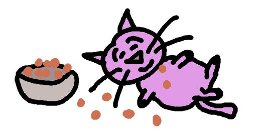 chat qui mange trop surpoids - comic