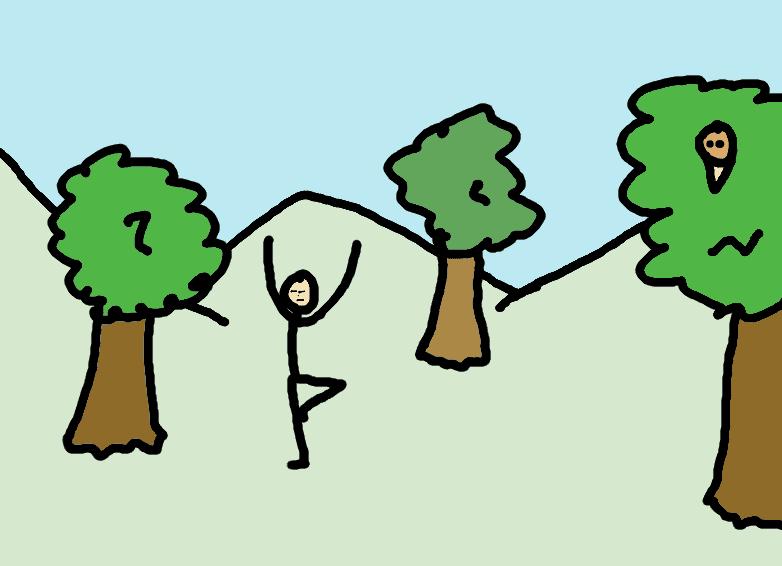 Grounding yoga - comic