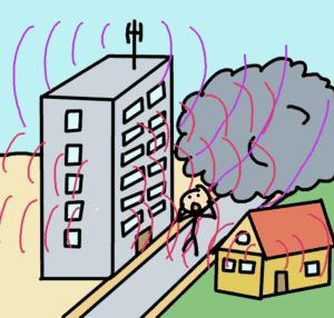 ondes électromagnétiques en ville - comic