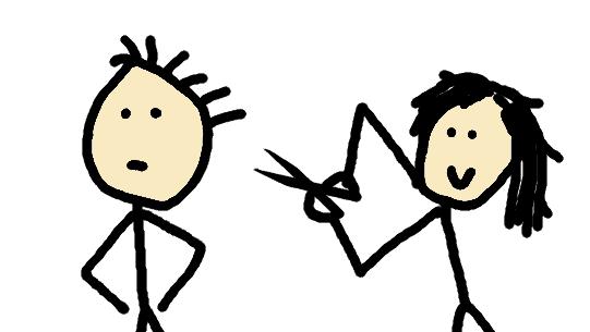 couper les cheveux - comic
