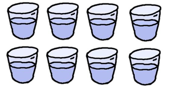 huit verres d'eau - comic