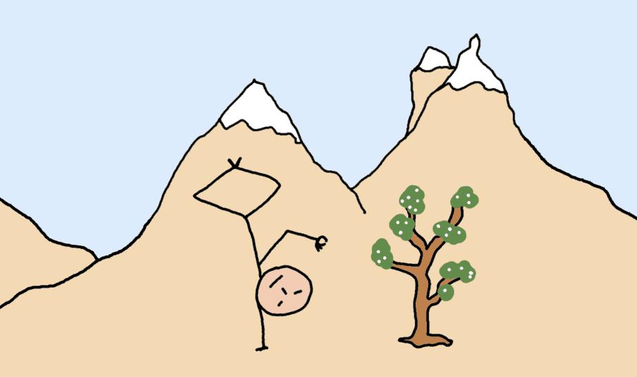 méditation - tree pose - comic