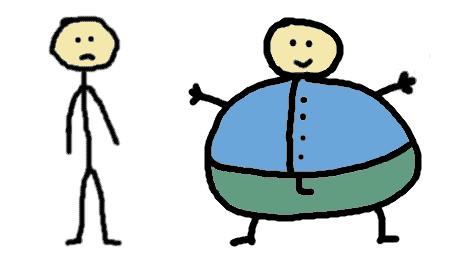 maigre et gros - comic