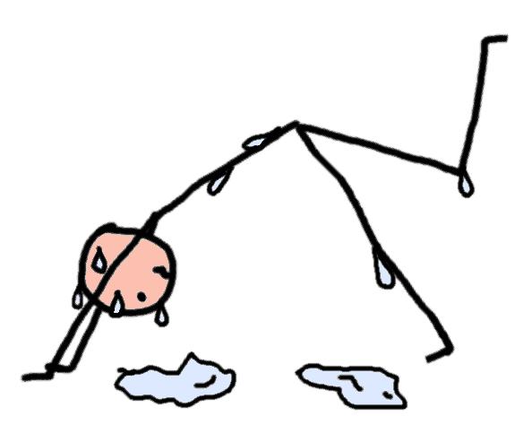 hot yoga et transpiration - dessin comic