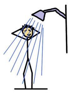 dessin : une bonne douche
