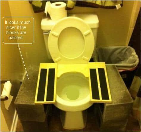 siège de toilette adapté à la position accroupie